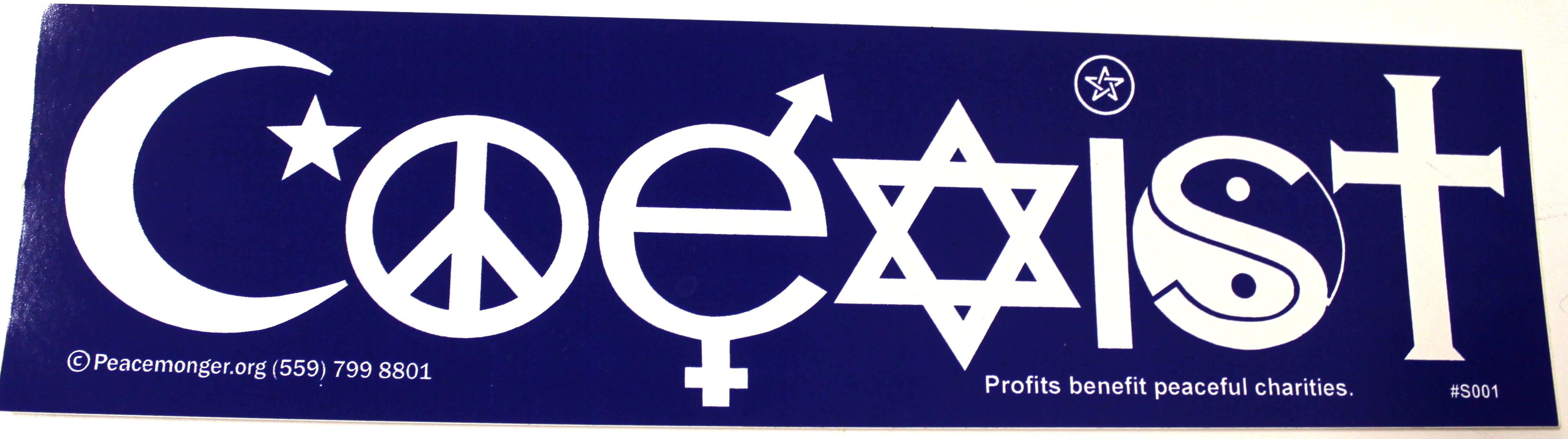 Stickers coexist bumper sticker click